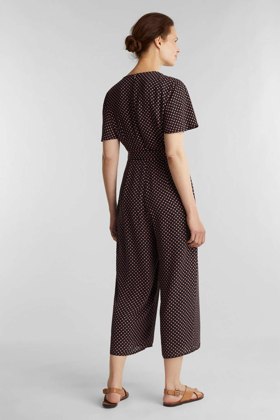 Culotte jumpsuit with an all-over print, NAVY, detail image number 2