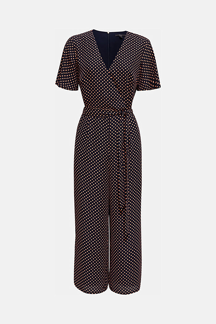 Culotte jumpsuit with an all-over print, NAVY, detail image number 5