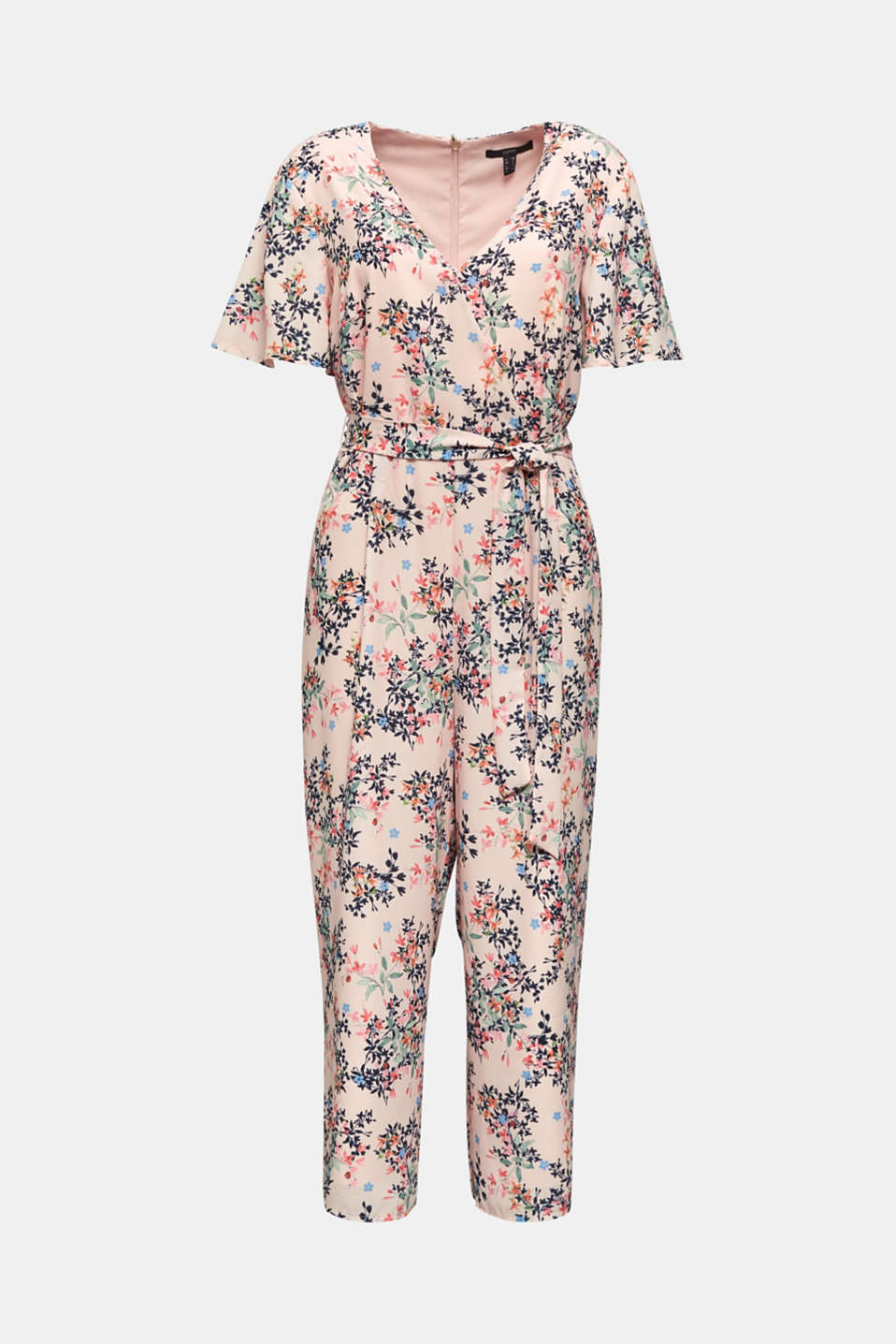 Culotte jumpsuit with an all-over print, PASTEL PINK 4, detail image number 6