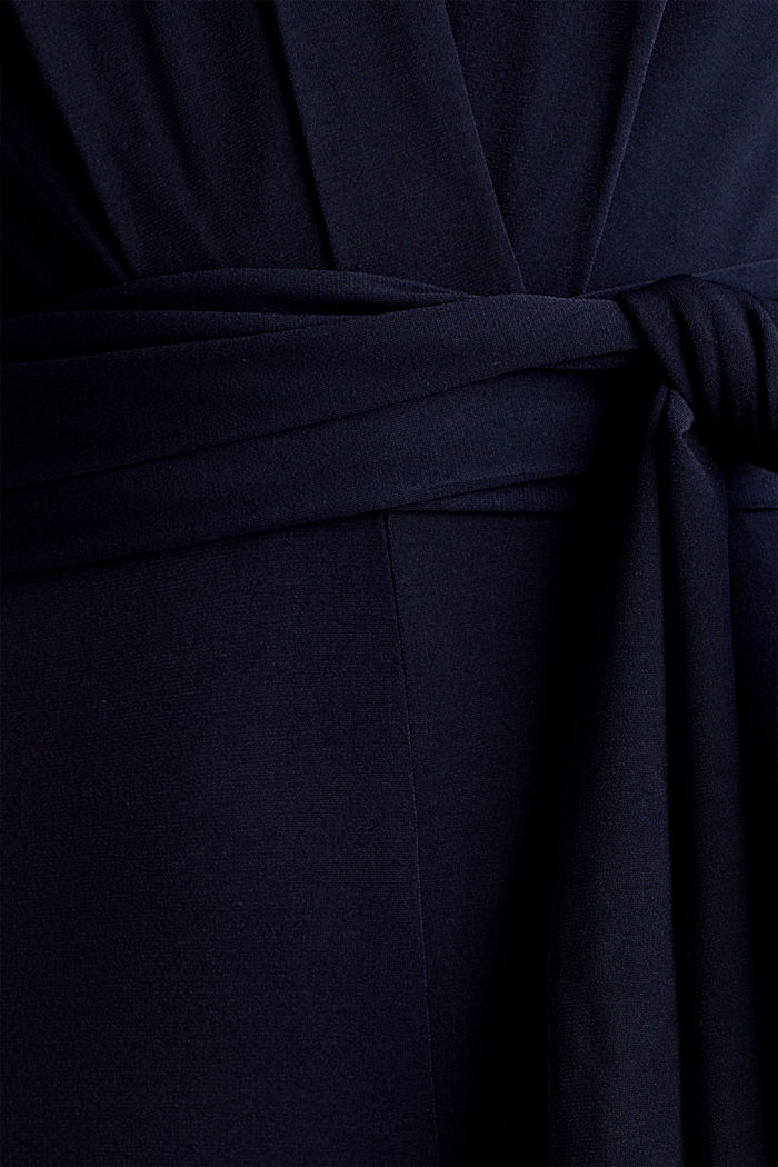 Jersey jumpsuit with a wide leg, NAVY, detail image number 3