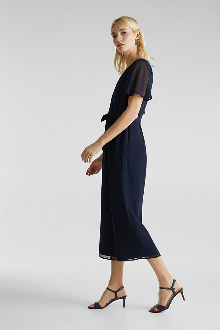 Wickel-Overall aus Chiffon, NAVY, detail image number 5