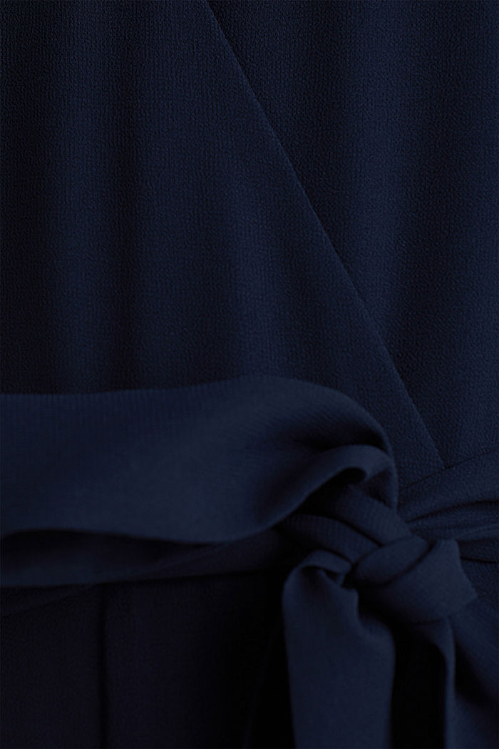 Wickel-Overall aus Chiffon, NAVY, detail image number 4