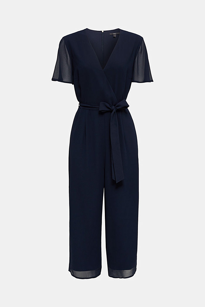 Wickel-Overall aus Chiffon, NAVY, detail image number 8
