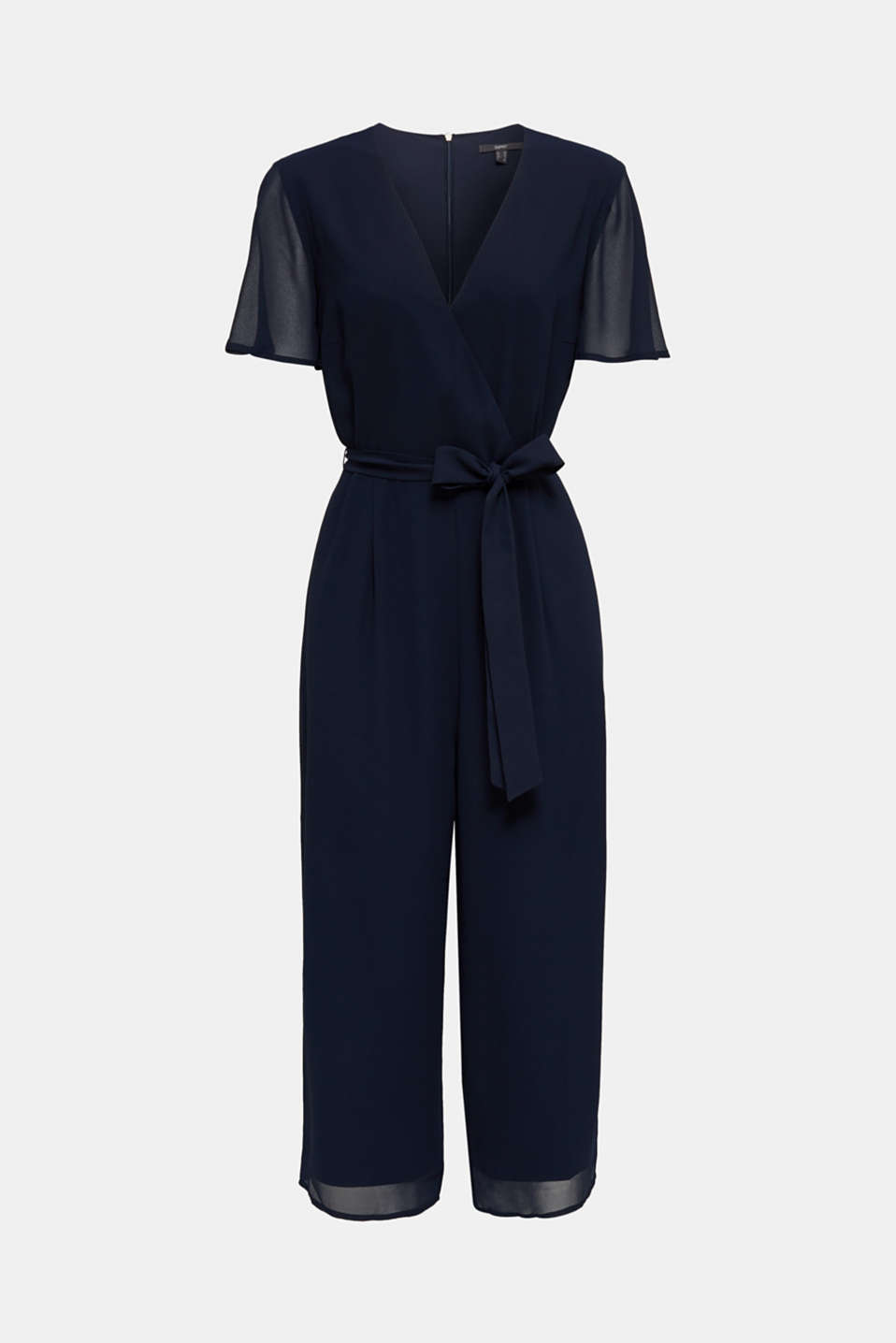 Chiffon jumpsuit with a wrap effect, NAVY, detail image number 8