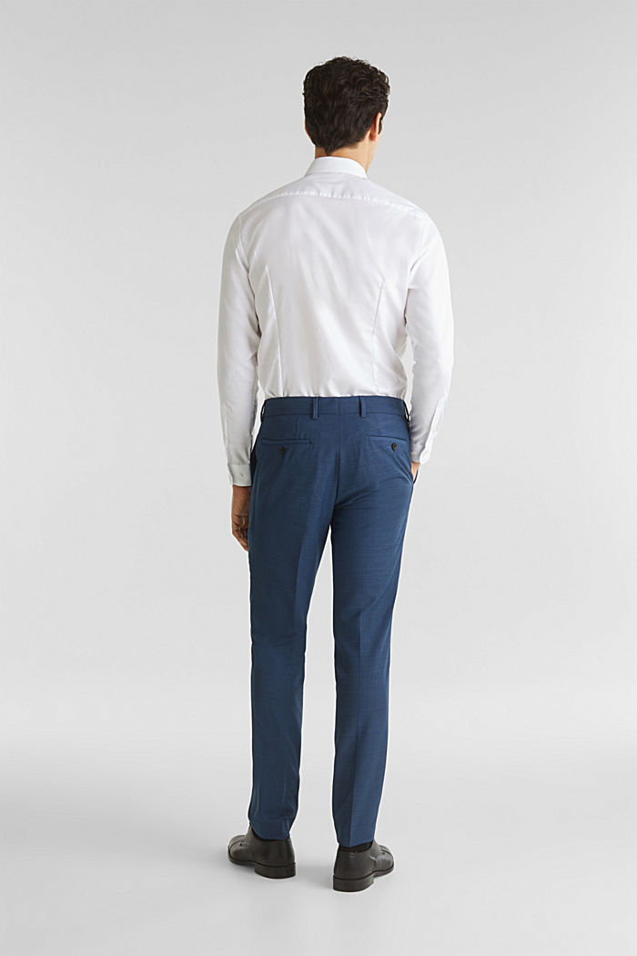 BLUE WOOL mix + match: Trousers, BLUE, detail image number 1