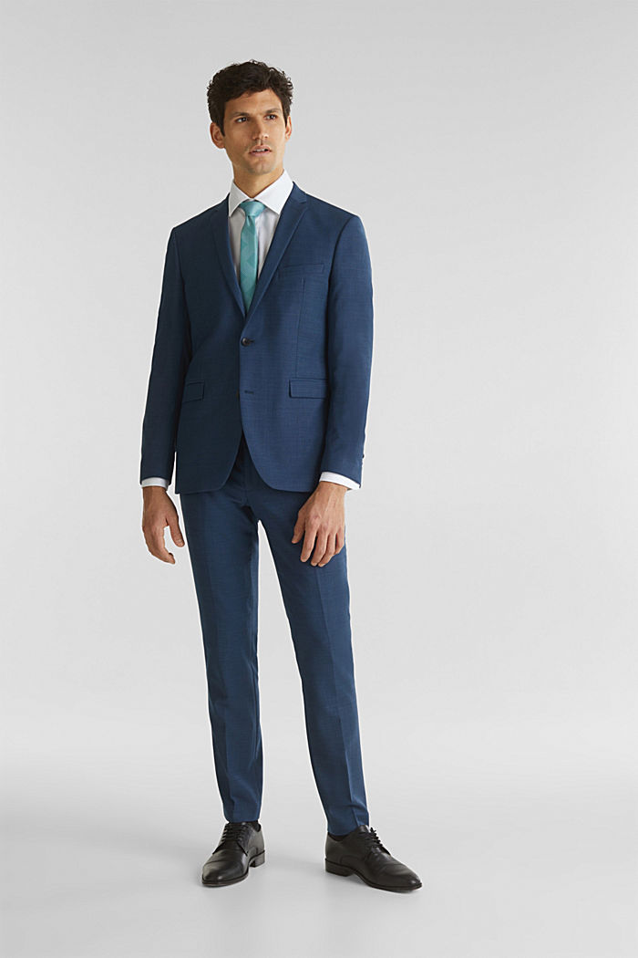 BLUE WOOL mix + match: Trousers, BLUE, detail image number 2