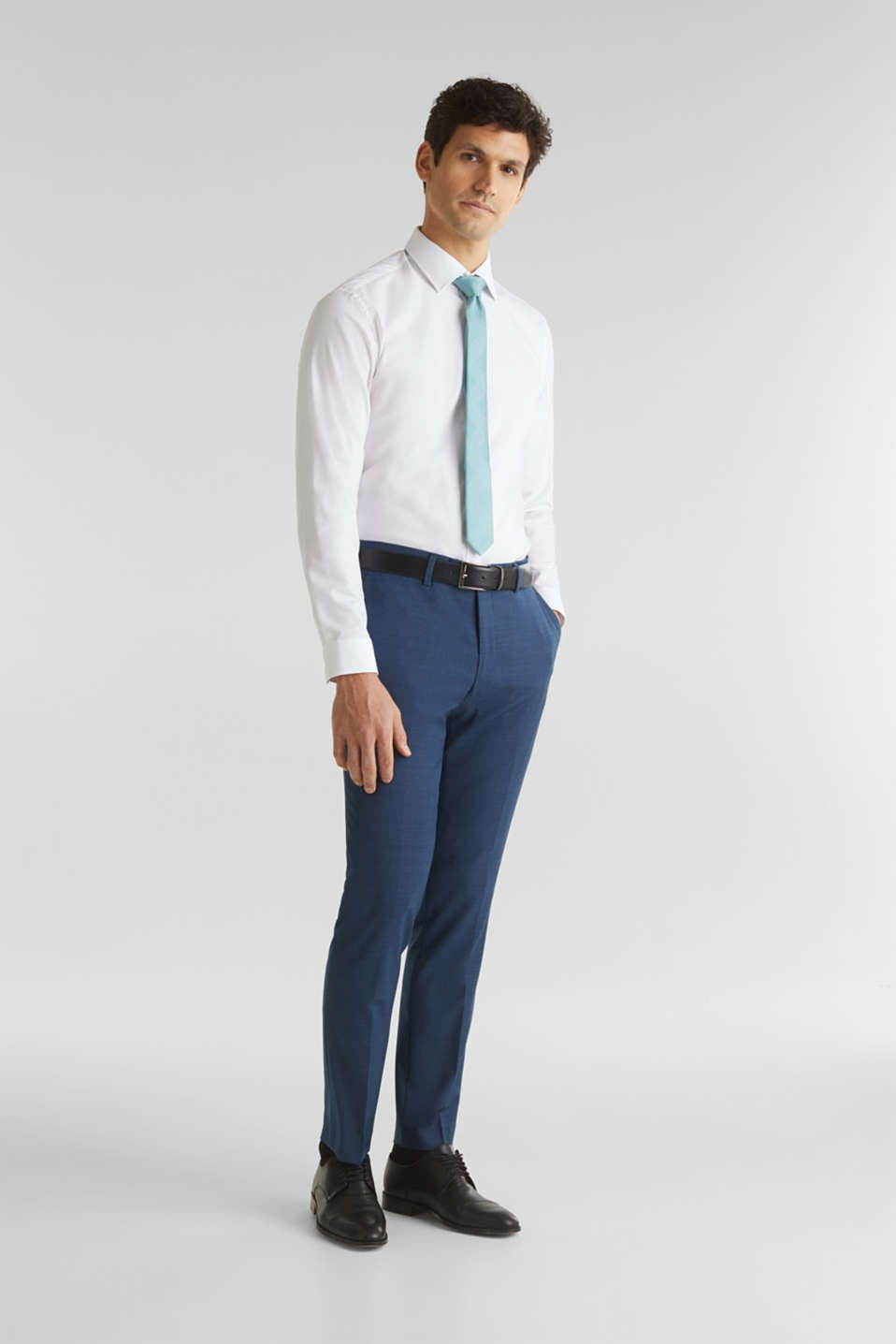 BLUE WOOL mix + match: Trousers, BLUE 5, detail image number 7