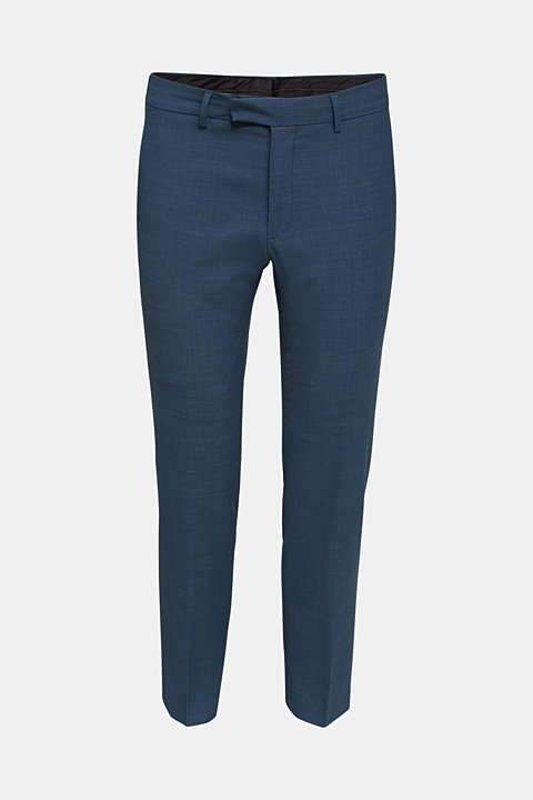 BLUE WOOL mix + match: Trousers