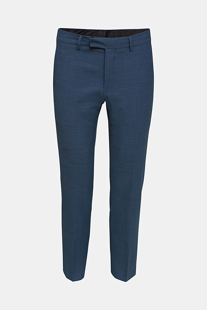 BLUE WOOL mix + match: Trousers, BLUE, detail image number 6