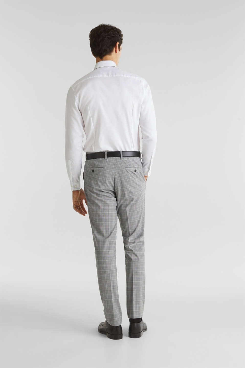 3-PIECE mix + match: Prince of Wales check trousers, LIGHT GREY 3, detail image number 1