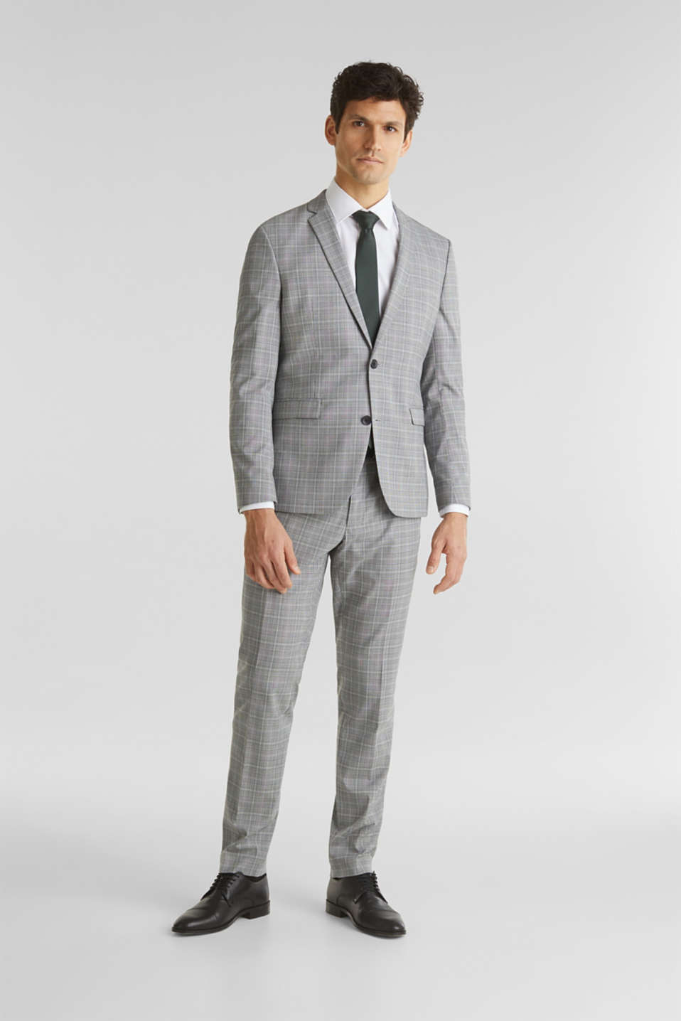 3-PIECE mix + match: Prince of Wales check trousers, LIGHT GREY 3, detail image number 2