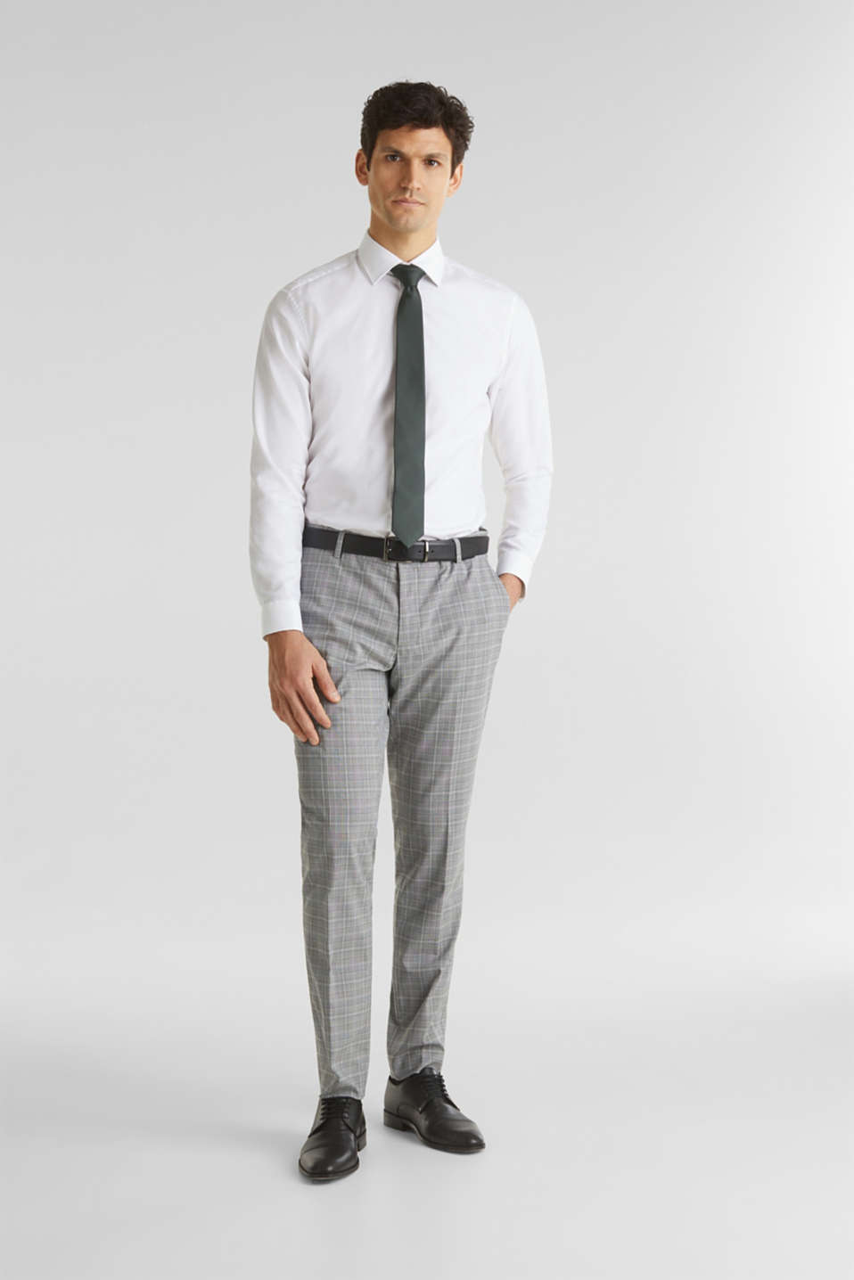 3-PIECE mix + match: Prince of Wales check trousers, LIGHT GREY 3, detail image number 7
