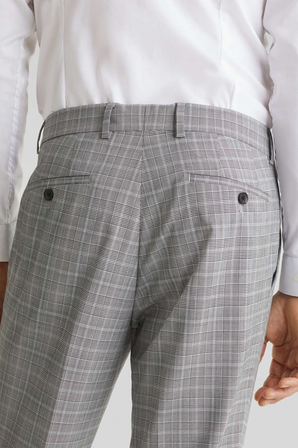 3-PIECE mix + match: Prince of Wales check trousers, LIGHT GREY 3, detail image number 5