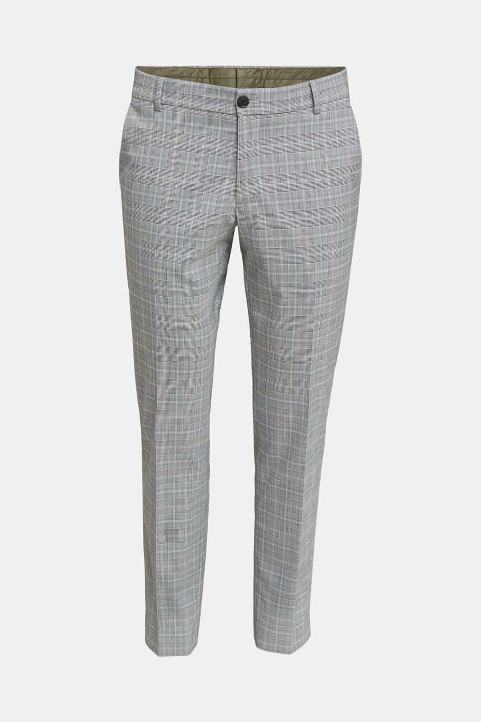 3-PIECE mix + match: Prince of Wales check trousers, LIGHT GREY 3, detail image number 6