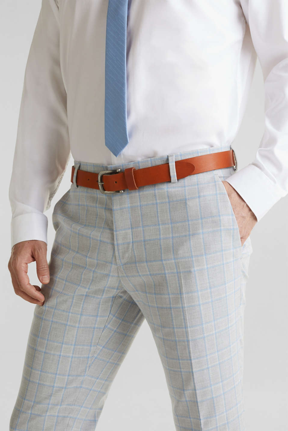 SUMMER CHECK mix + match: Trousers, LIGHT BLUE 3, detail image number 3