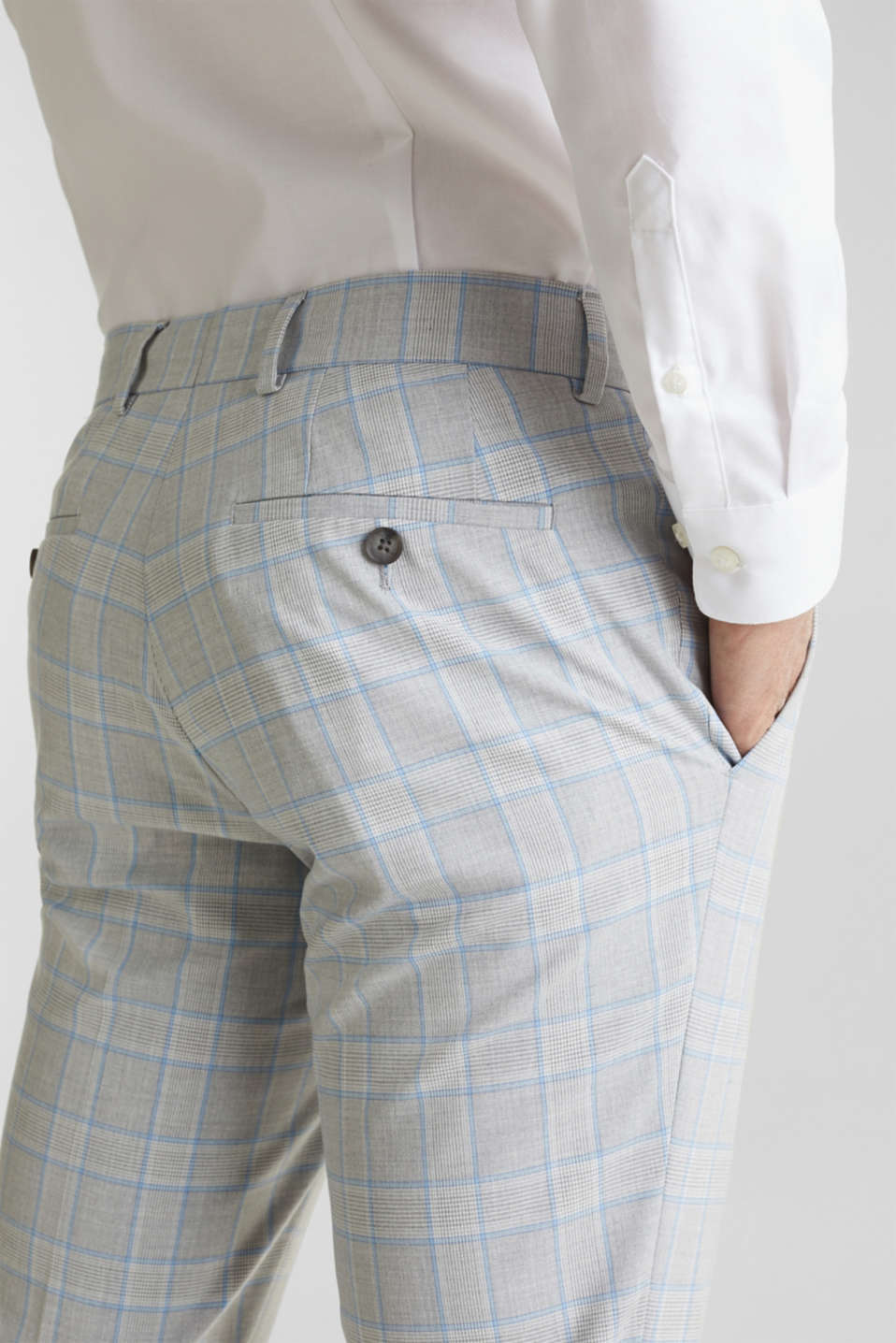 SUMMER CHECK mix + match: Trousers, LIGHT BLUE 3, detail image number 5
