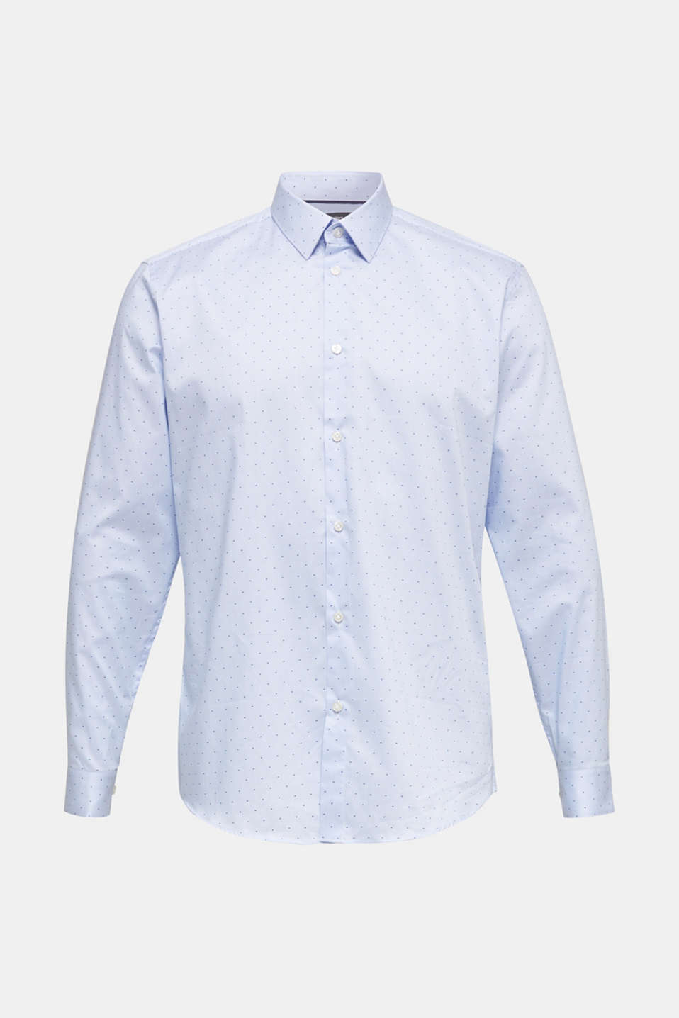 Shirt with a jacquard pattern, 100% cotton, LIGHT BLUE 4, detail image number 5