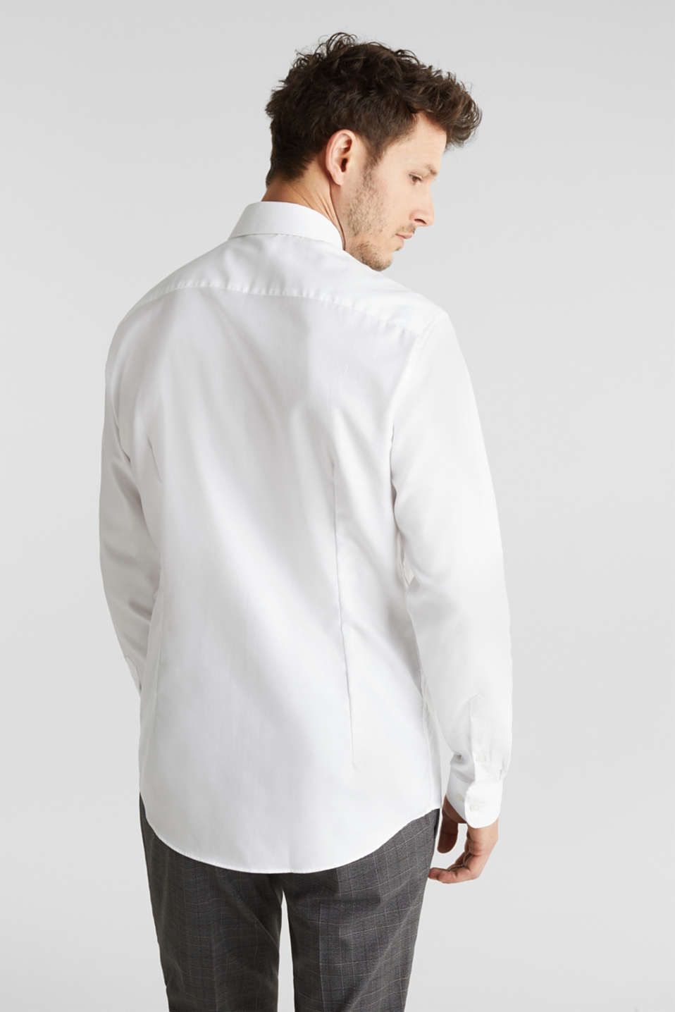 Textured shirt made of 100% cotton, WHITE 5, detail image number 2