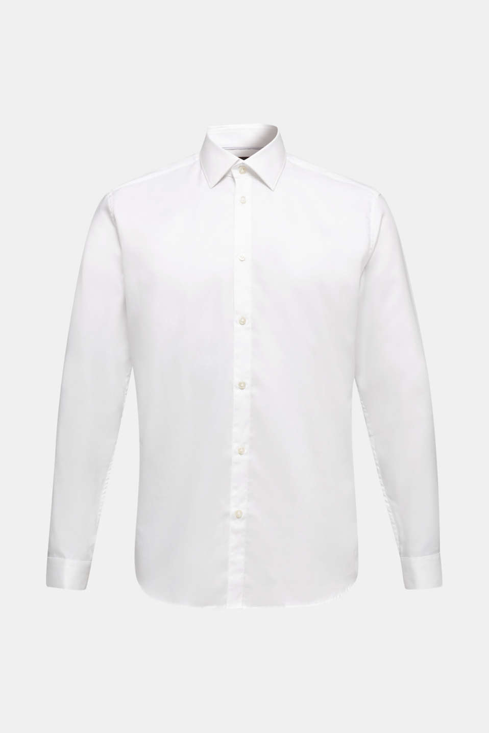 Textured shirt made of 100% cotton, WHITE 5, detail image number 6