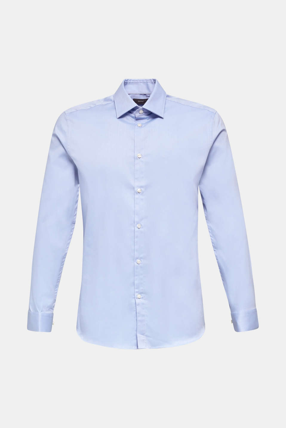 Textured shirt made of 100% cotton, LIGHT BLUE 5, detail image number 7