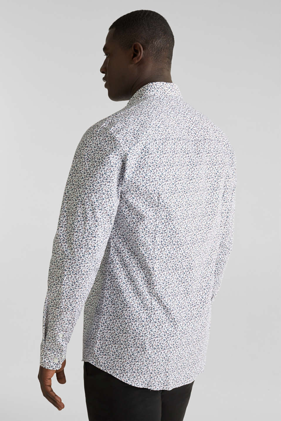 Floral shirt made of 100% cotton, WHITE 5, detail image number 3