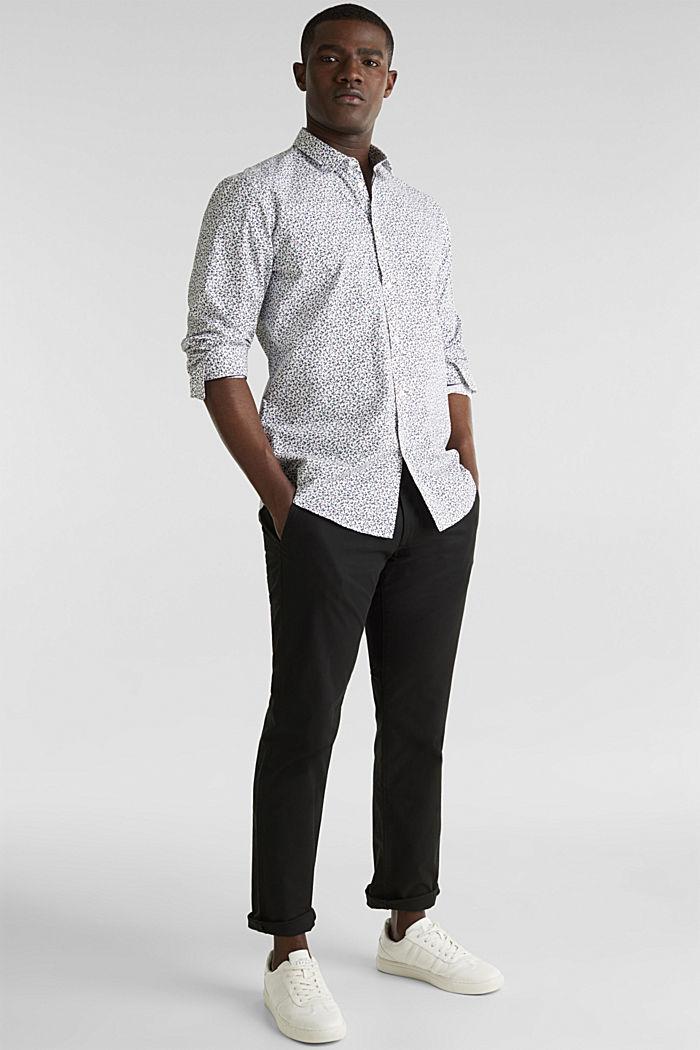 Gebloemd overhemd van 100% katoen, WHITE, detail image number 6