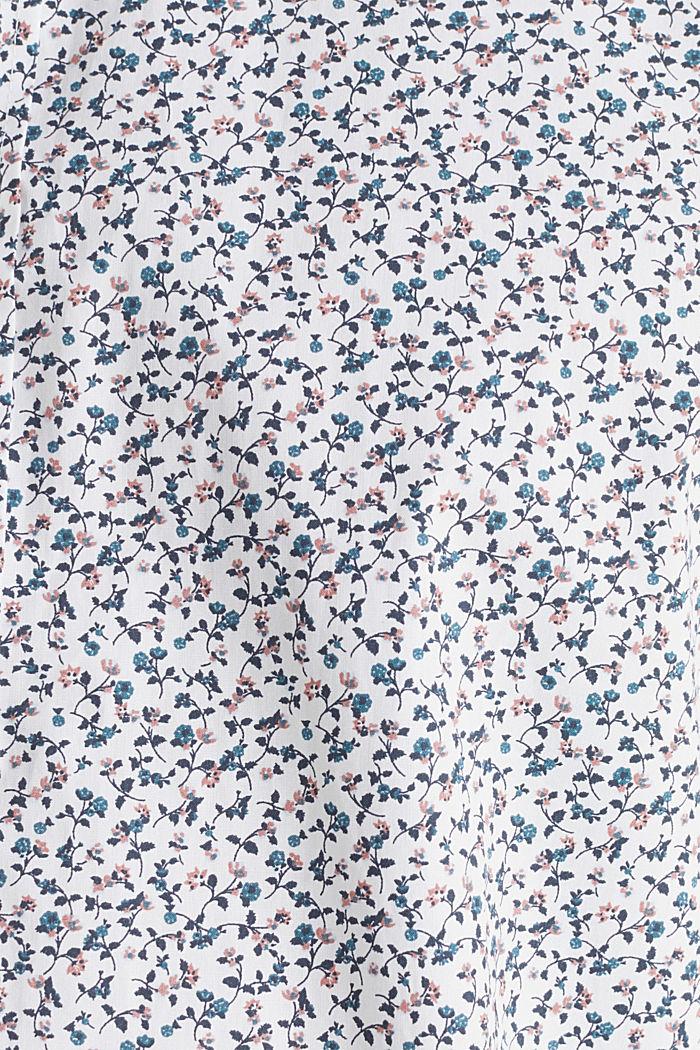 Gebloemd overhemd van 100% katoen, WHITE, detail image number 4