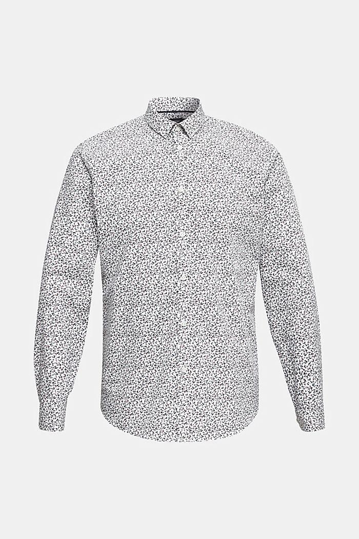 Gebloemd overhemd van 100% katoen, WHITE, detail image number 7