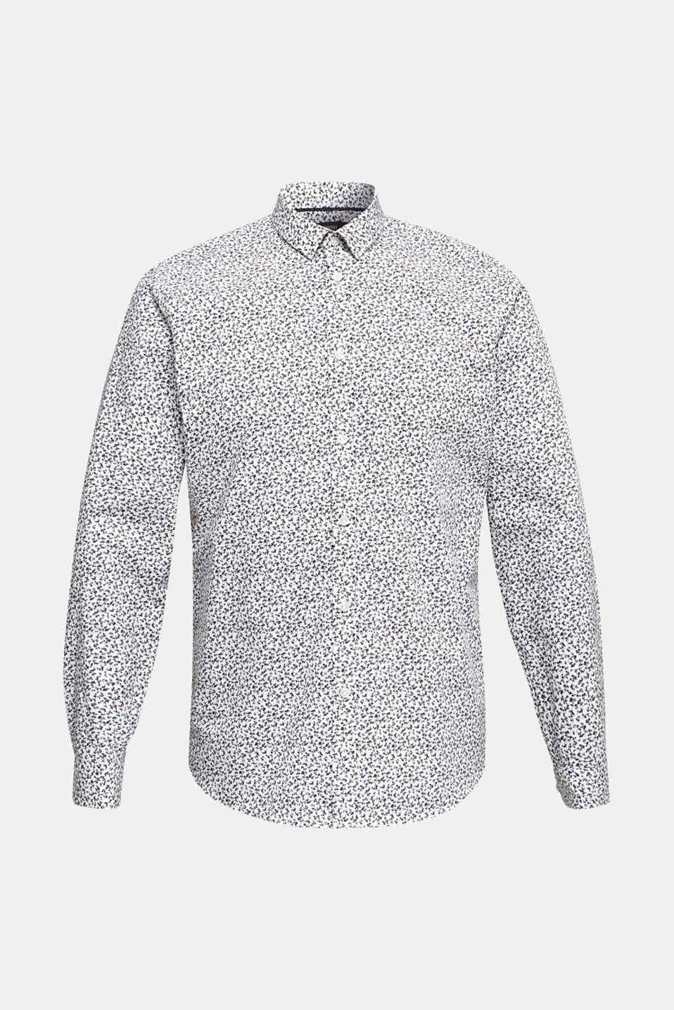 Floral shirt made of 100% cotton, WHITE 5, detail image number 7