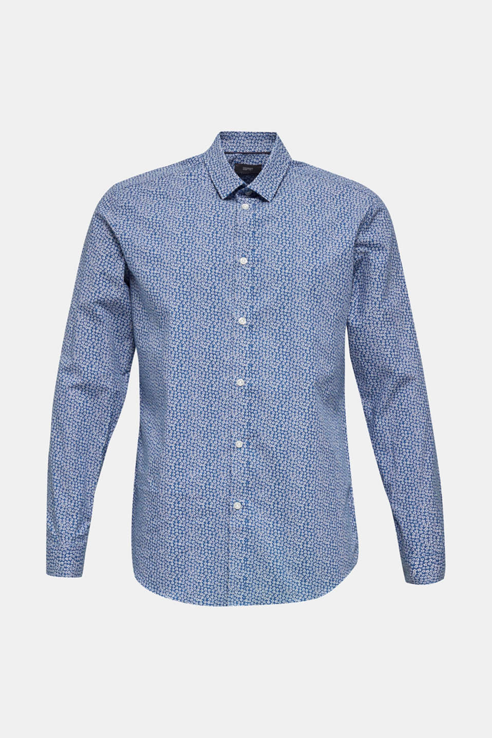 Floral shirt made of 100% cotton, DARK BLUE 5, detail image number 6