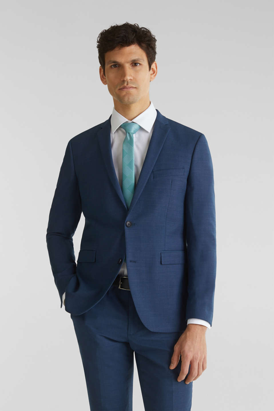 Esprit - BLUE WOOL Mix + Match: giacca da completo