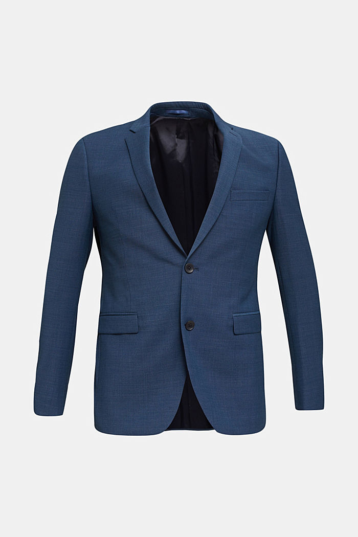 BLUE WOOL mix + match: sports jacket, BLUE, detail image number 7