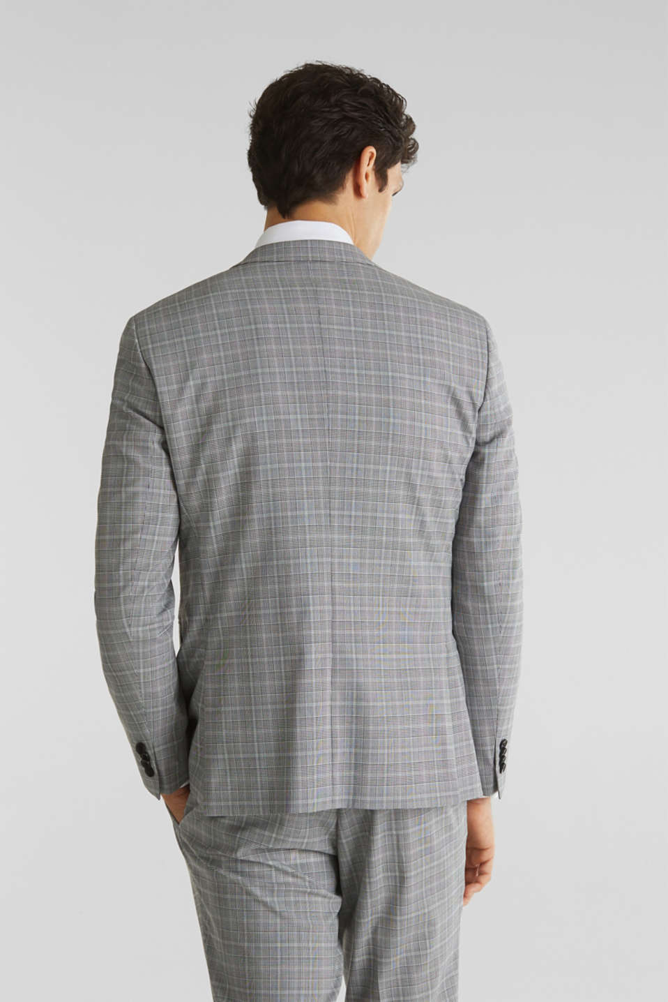 3-PIECE mix + match: Prince of Wales check jacket, LIGHT GREY 3, detail image number 3