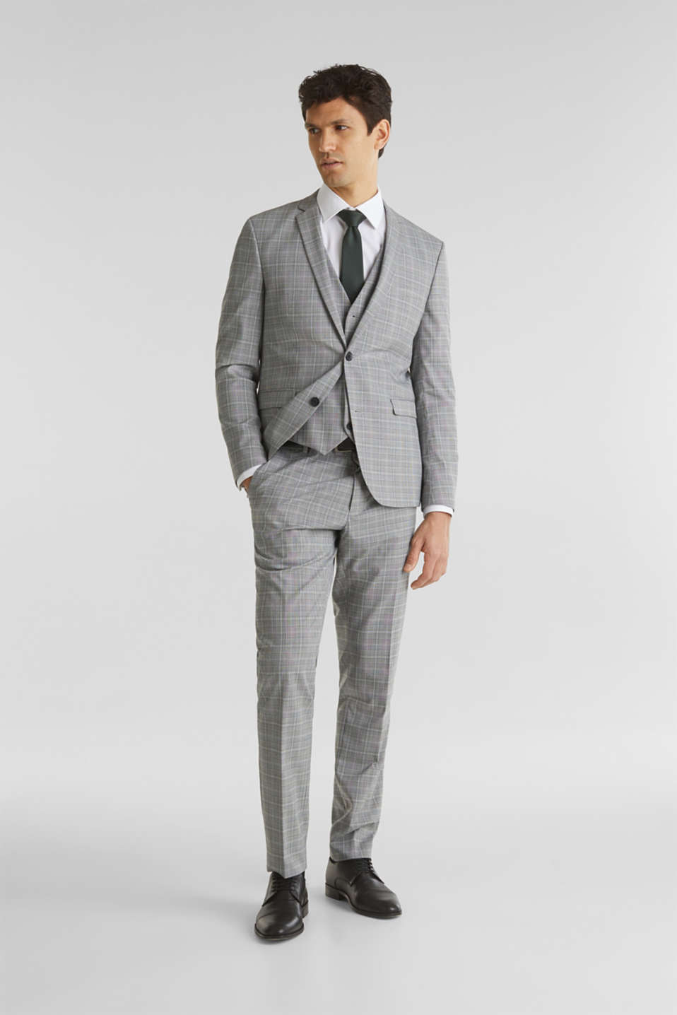3-PIECE mix + match: Prince of Wales check jacket, LIGHT GREY 3, detail image number 1