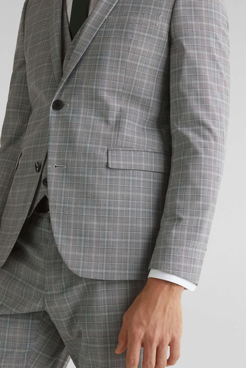 3-PIECE mix + match: Prince of Wales check jacket, LIGHT GREY 3, detail image number 2