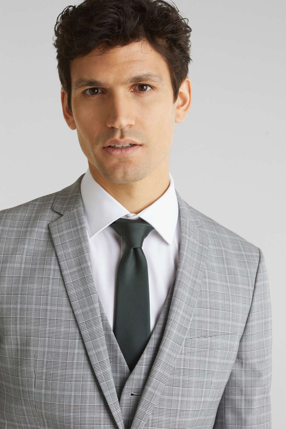 3-PIECE mix + match: Prince of Wales check jacket, LIGHT GREY 3, detail image number 6