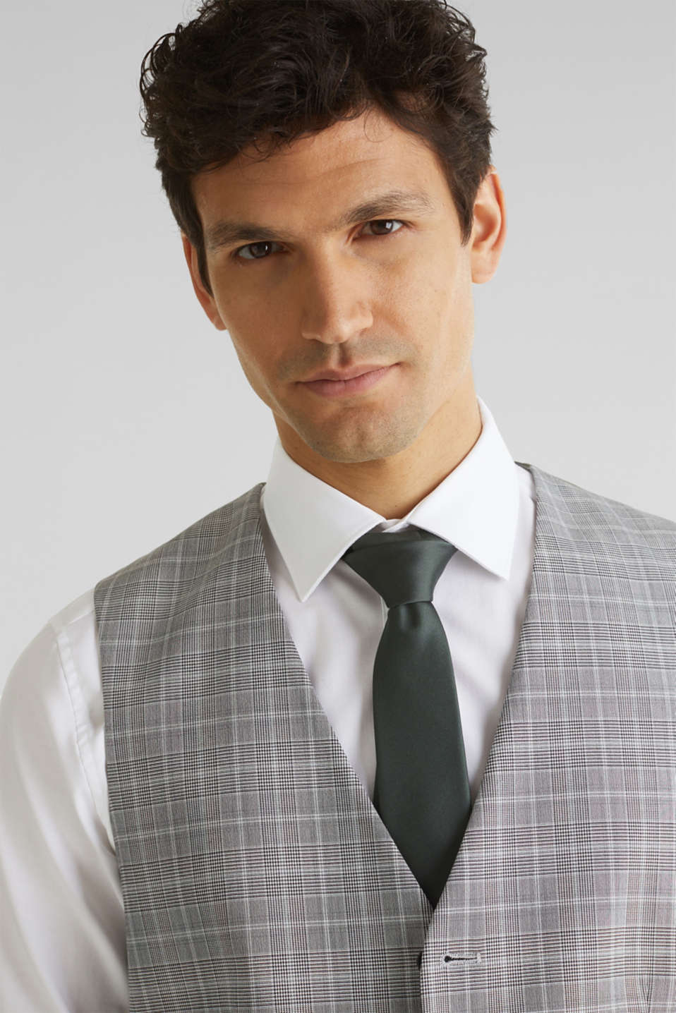 3-PIECE mix + match: Prince of Wales check waistcoat, LIGHT GREY 3, detail image number 5