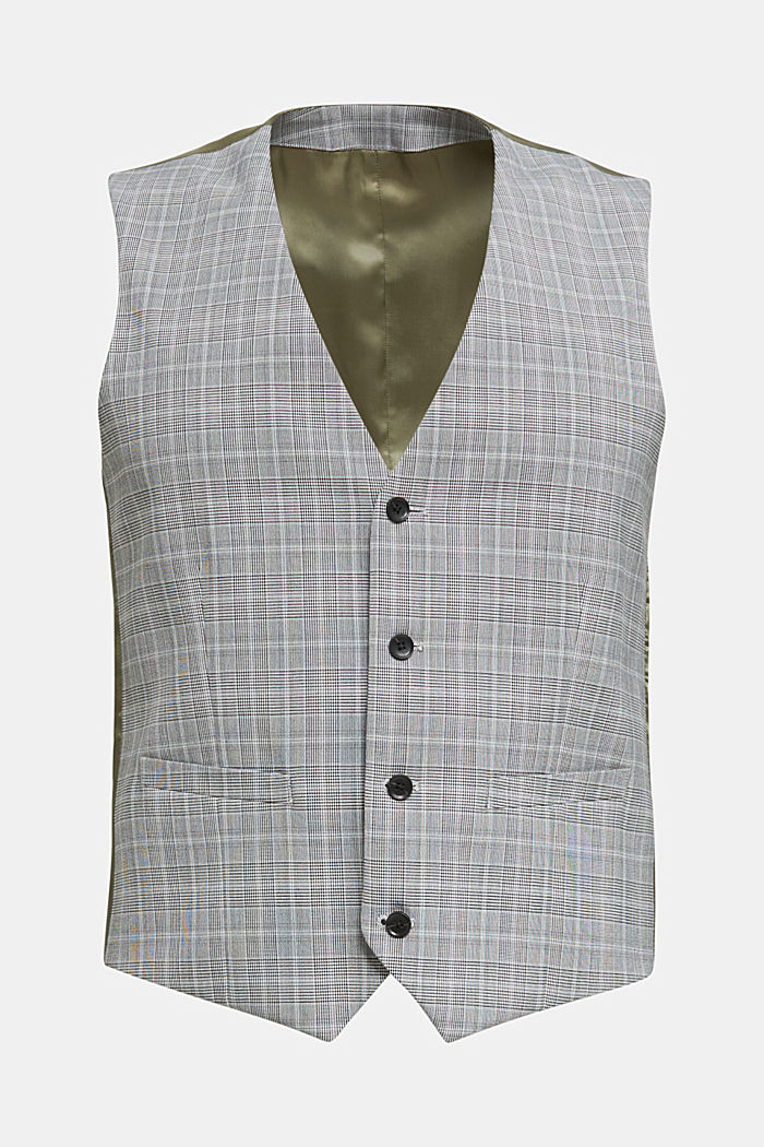 3-PIECE mix + match: Prince of Wales check waistcoat, LIGHT GREY, detail image number 6