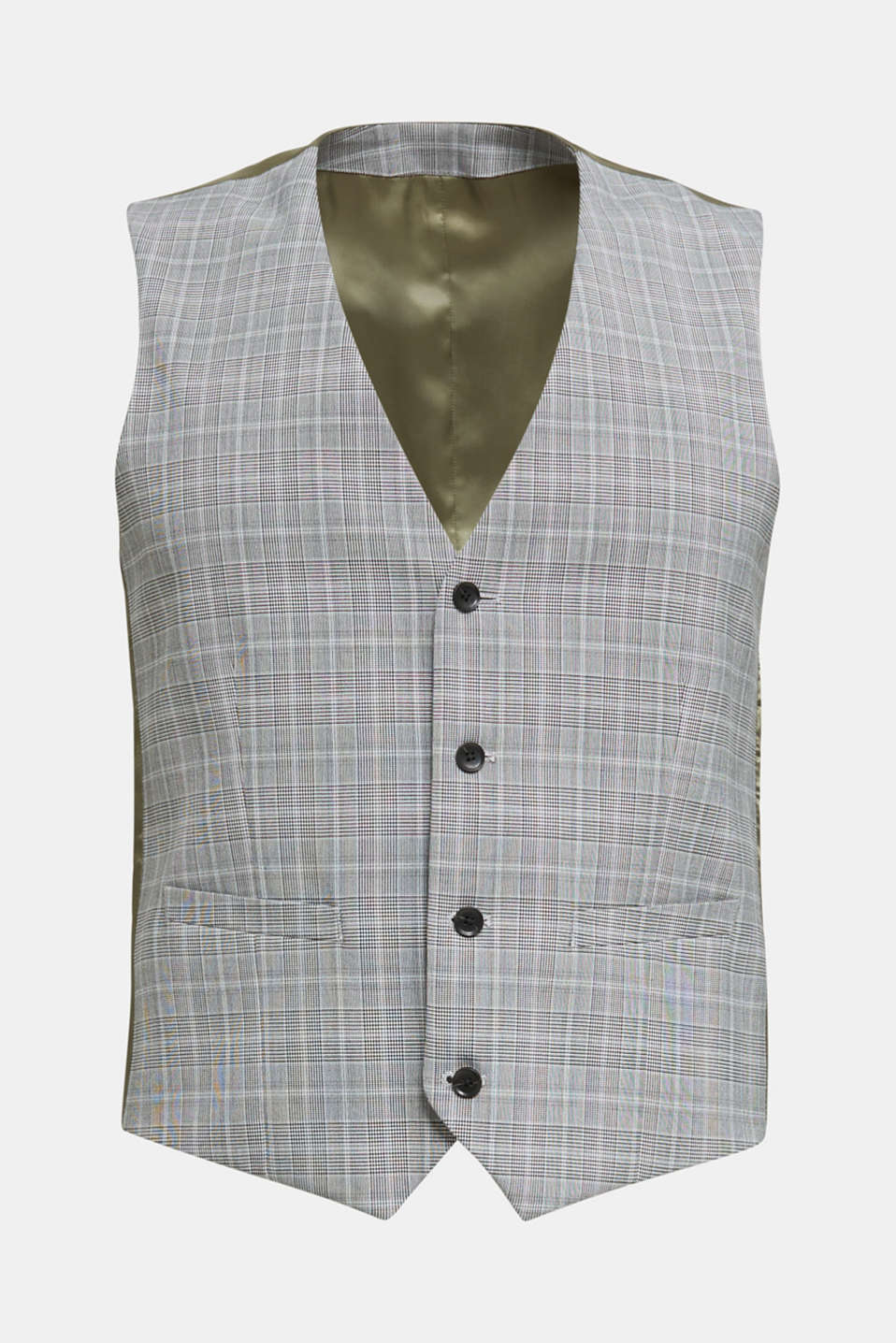 3-PIECE mix + match: Prince of Wales check waistcoat, LIGHT GREY 3, detail image number 6