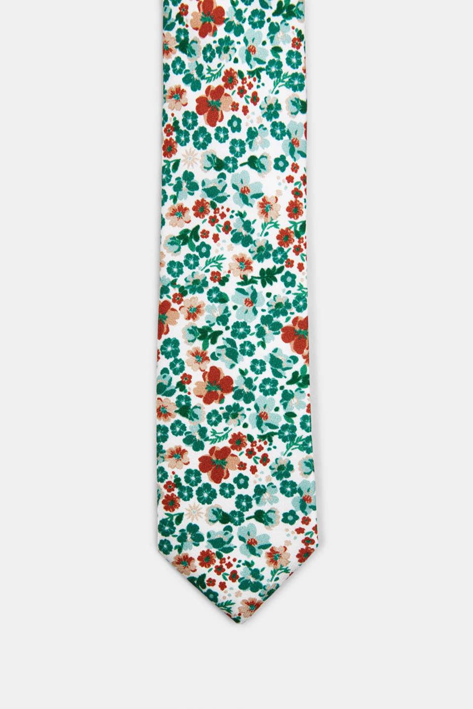 100% silk: Tie and pocket square set, PASTEL GREEN 4, detail image number 0