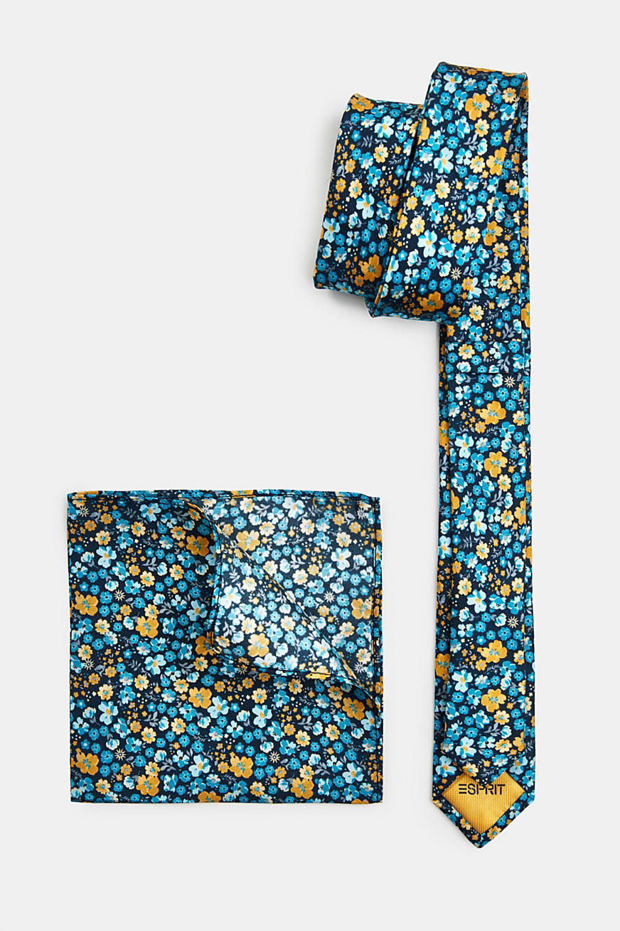 100% silk: Tie and pocket square set