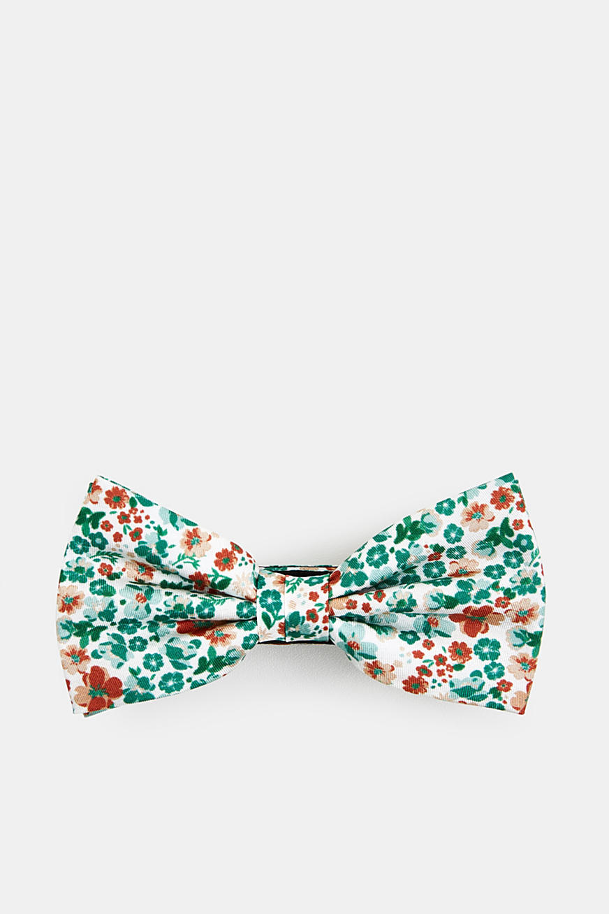 100% silk: bow tie with a floral pattern