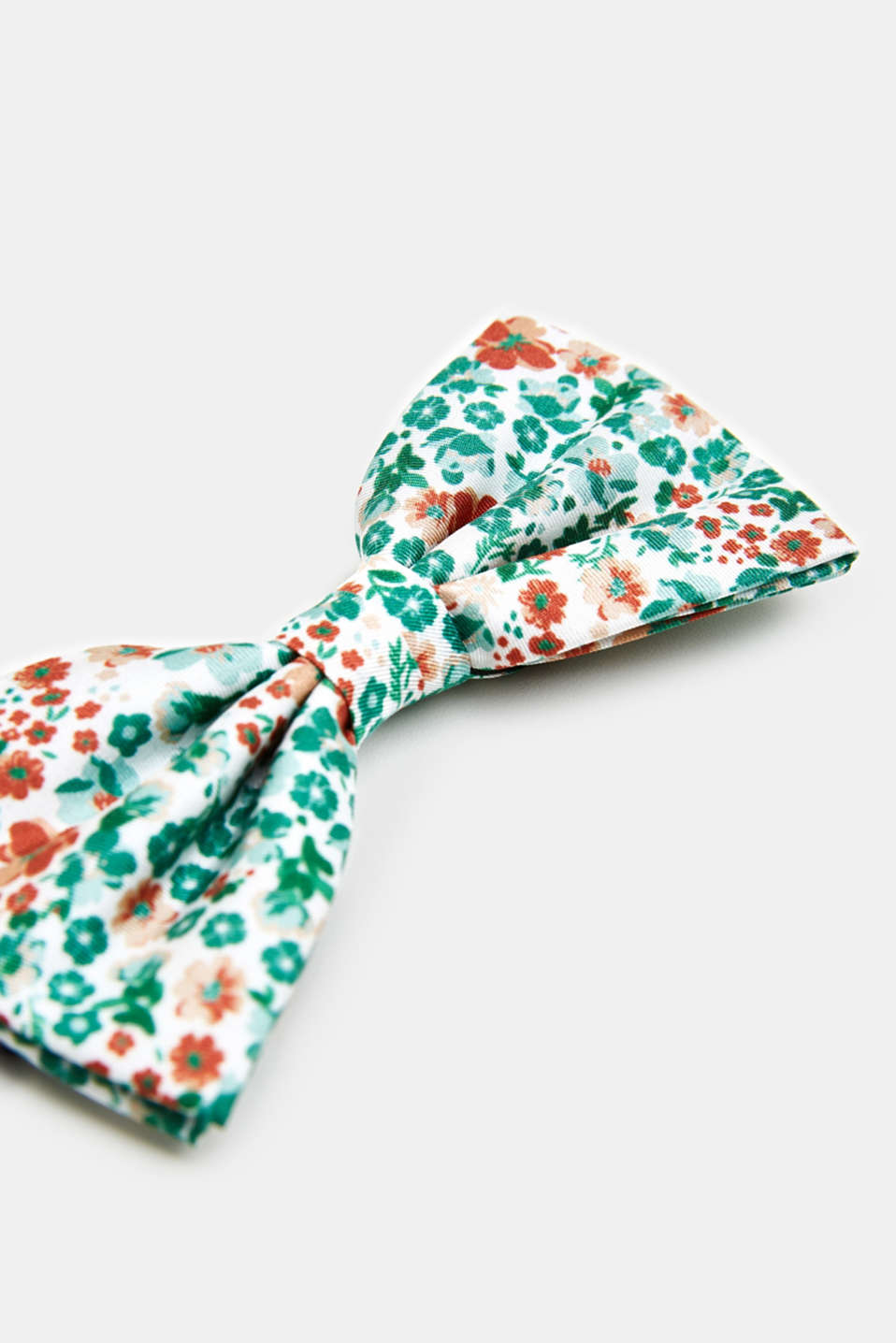 100% silk: bow tie with a floral pattern, PASTEL GREEN 4, detail image number 2