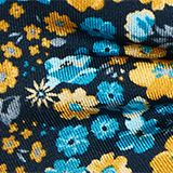 100% silk: bow tie with a floral pattern, DARK BLUE 4, swatch