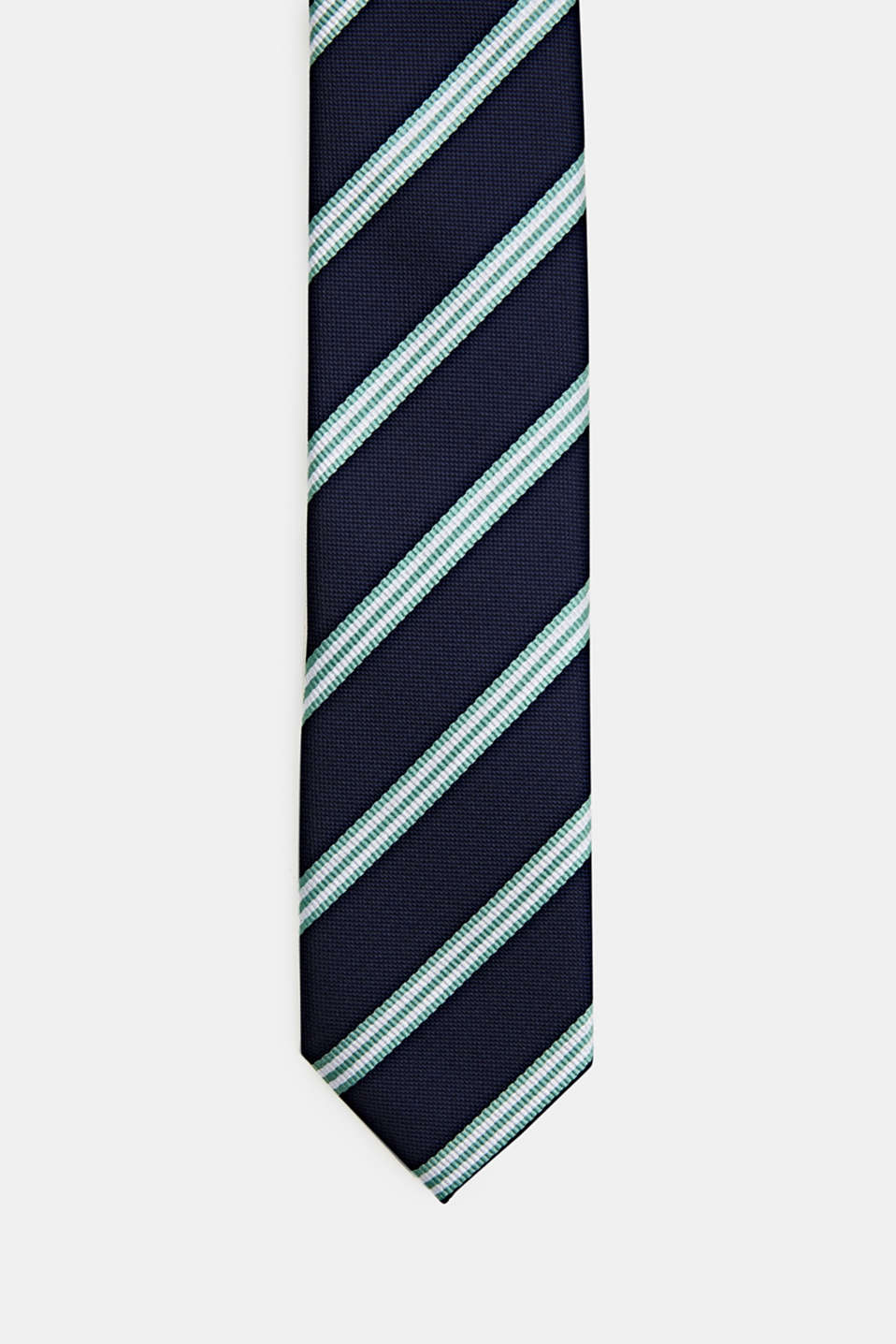 Tie with stripes, PASTEL GREEN 3, detail image number 0