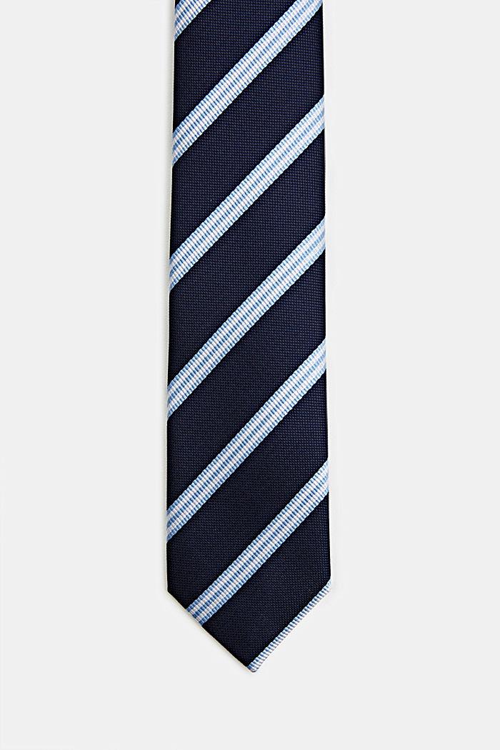 Stropdas met strepen, LIGHT BLUE, detail image number 0