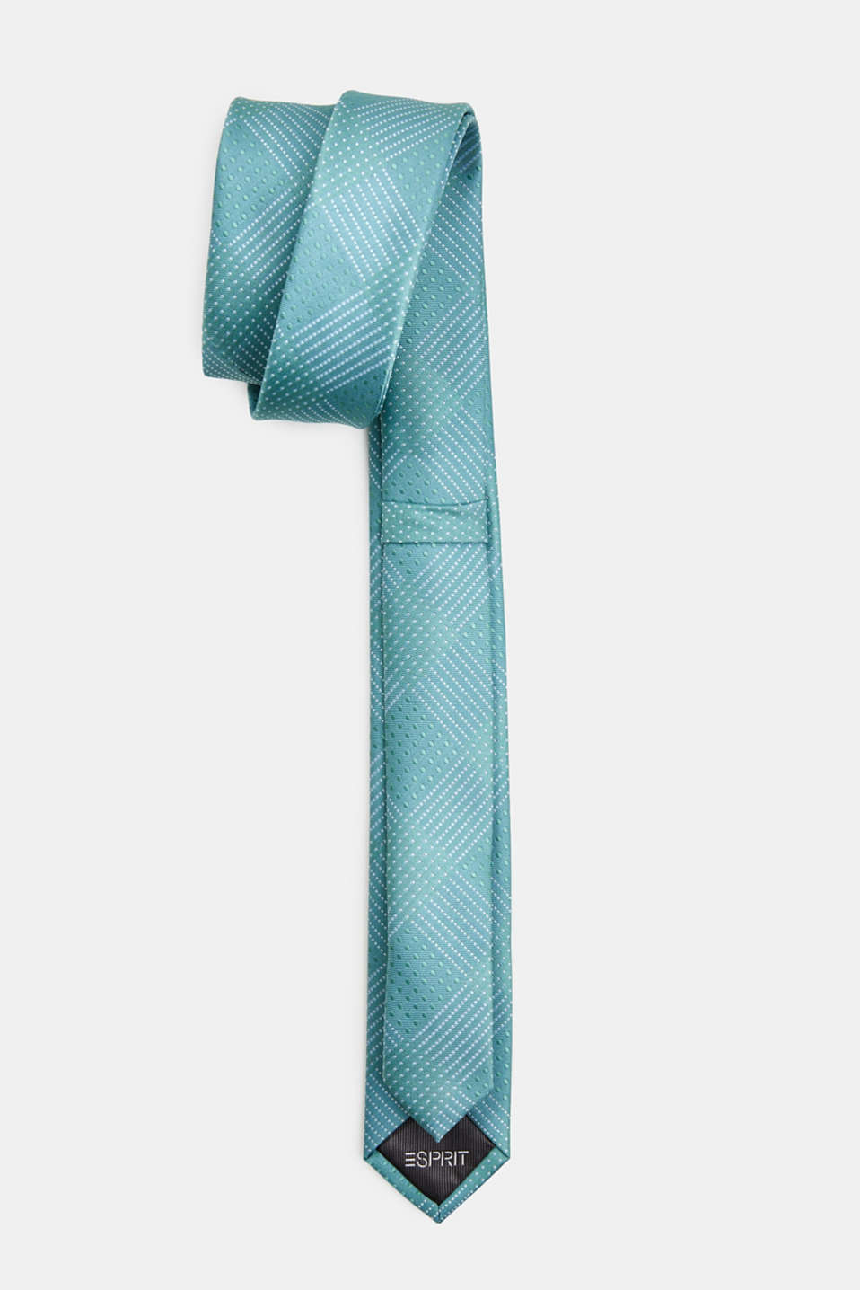 Tie with a polka dot texture, PASTEL GREEN 3, detail image number 2