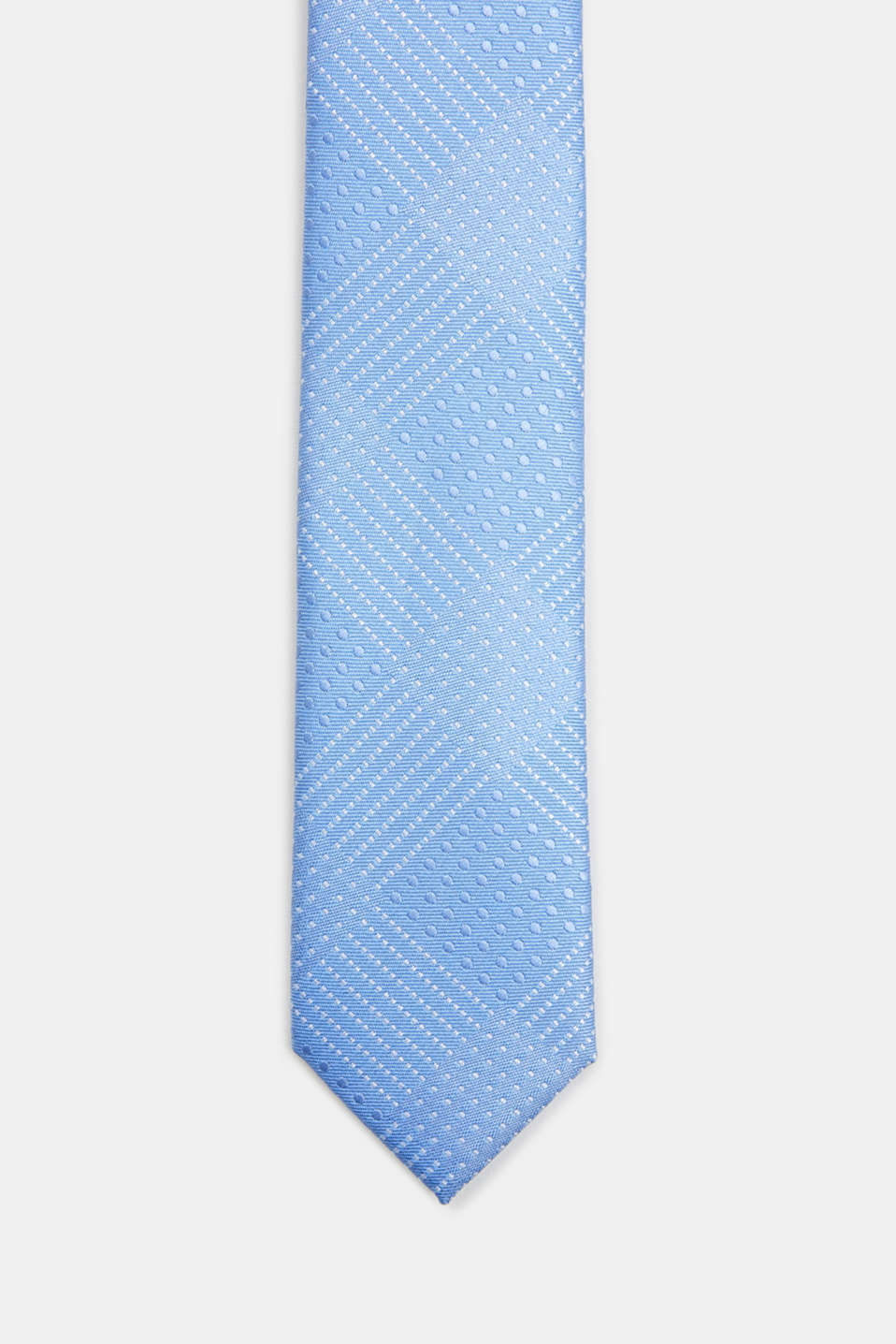 Tie with a polka dot texture, LIGHT BLUE 3, detail image number 0
