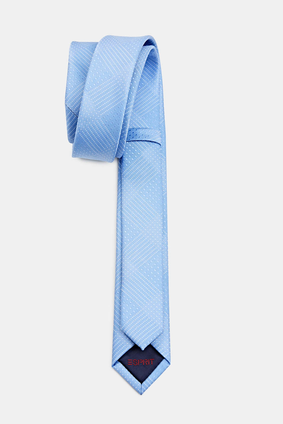Tie with a polka dot texture, LIGHT BLUE 3, detail image number 2