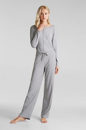 Modal/TENCEL™ blend: ribbed trousers